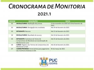 Cronograma Monitoria