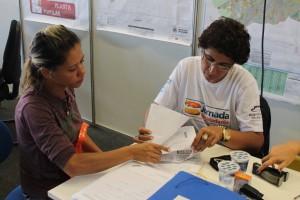 Amélia Dantas veio à Jornada da Cidadania em busca da regularização do lote