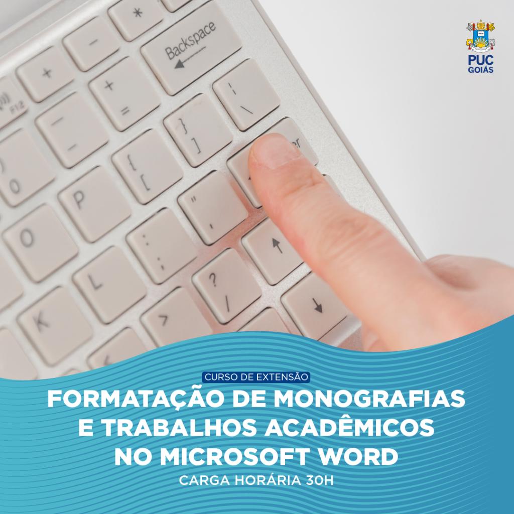 FORMATAÇÃO DE MONOGRAFIAS..